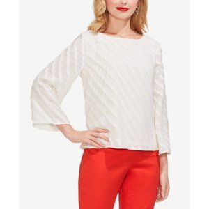 Vince Camuto Textured Boat-Neck Top XXS
